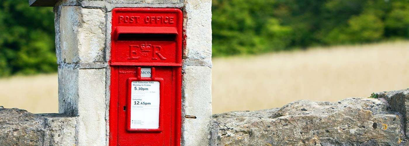 British Post box in the countryside