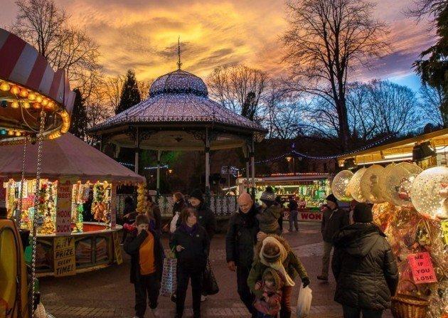Victorian Christmas market in Matlock