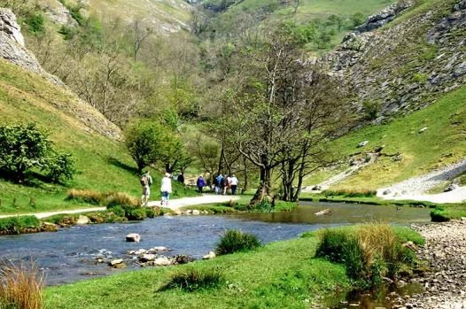 Dovedale stepping stones in the Peak District