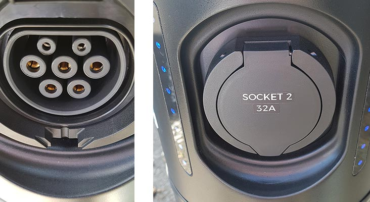Electric vehicle charging sockets