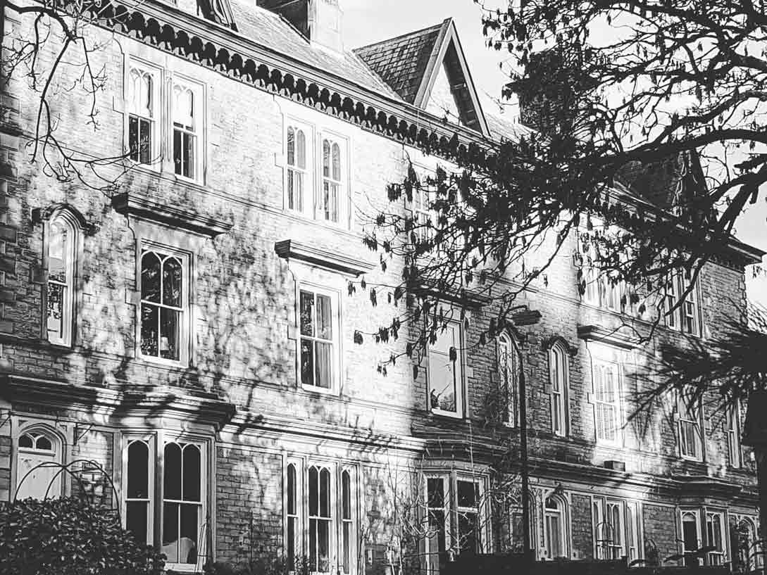 Glendon Bed and Breakfast black and white photos of terrace