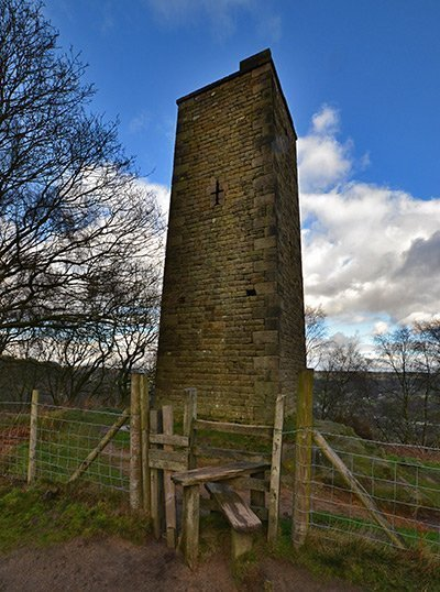 Grey's Tower in the Peak District National Park