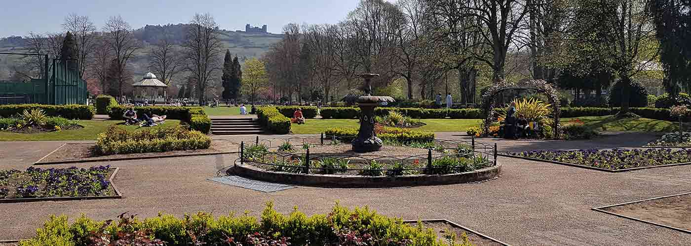 Hall Leys Park, Matlock in the Spring