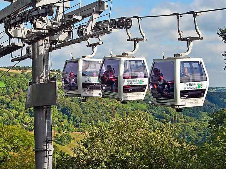 The Heights of Abraham cable car in Matlock