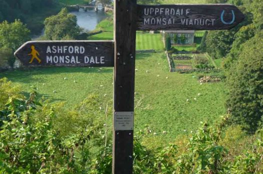 Sign posts to Monsal Dale