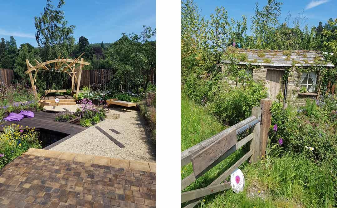 RHS Chatsworth Flower Show 2018 small garden exhibits