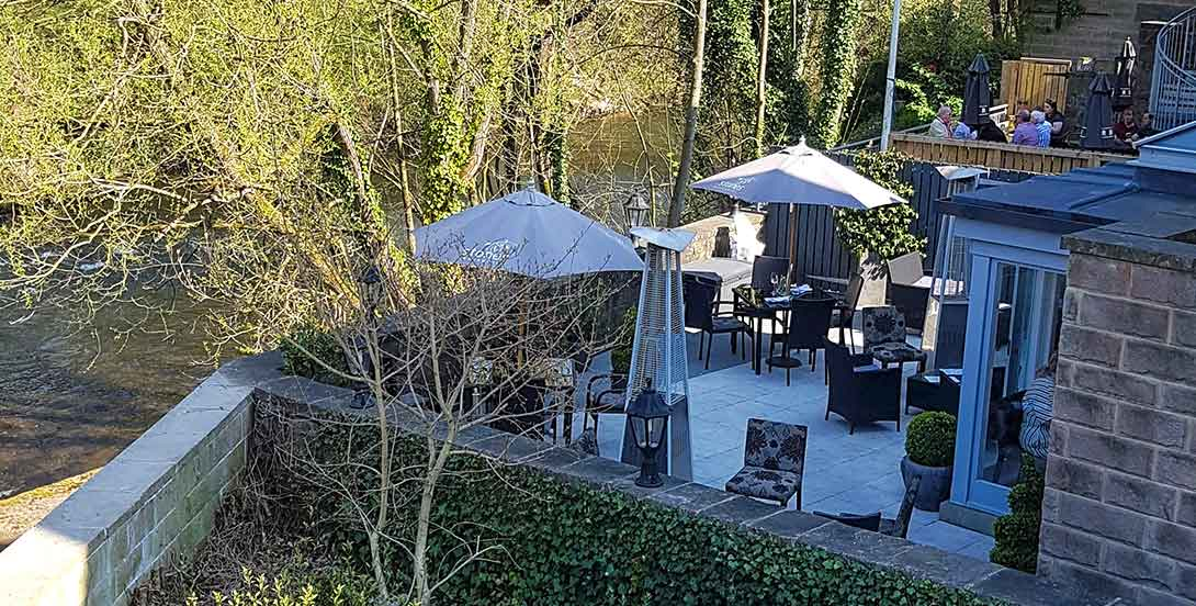Stones restaurant by the river in Matlock