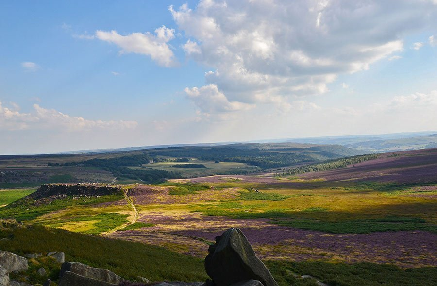 Burbage Edge on Peak District