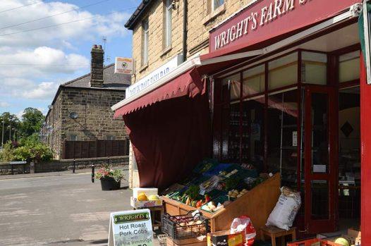 Wrights farm shop in Darley Dale
