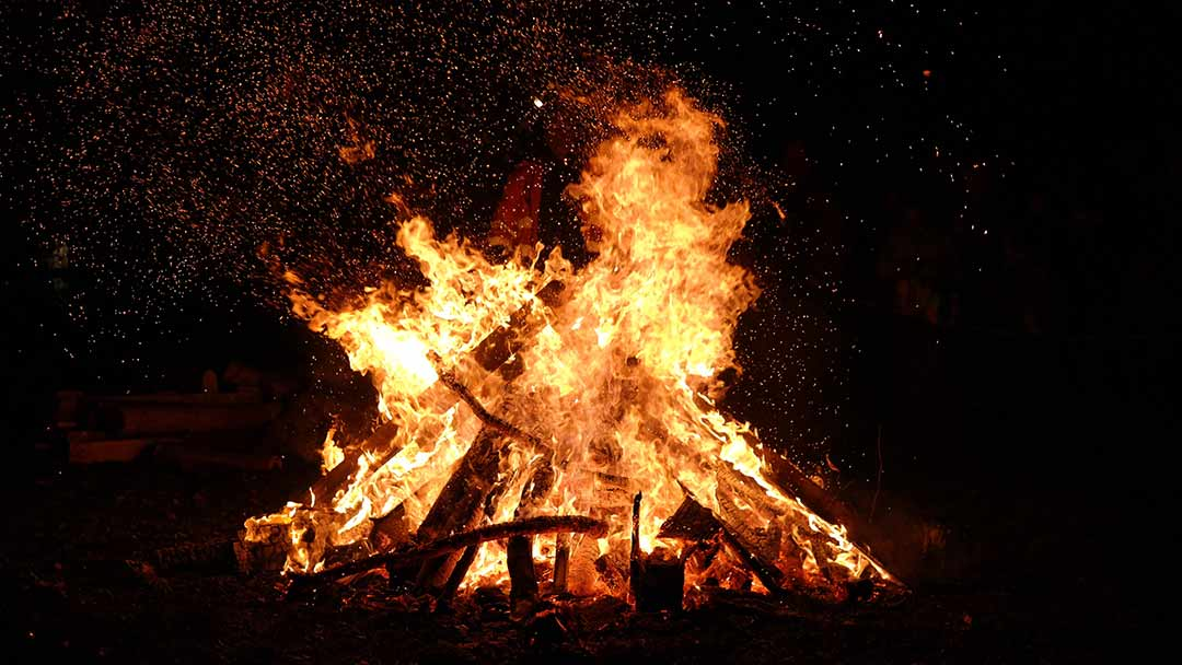 The use of light and bonfires began in Pagan times