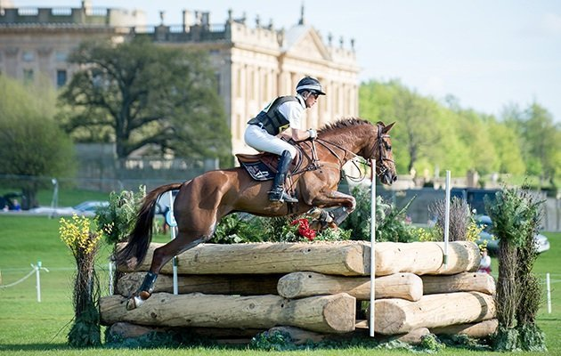 Horse and rider taking part in Chatsworth Horse Trials
