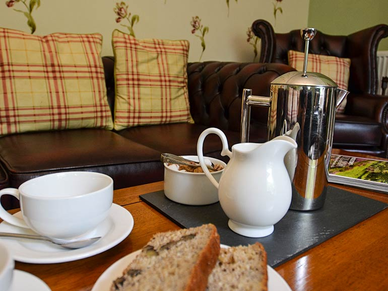 Complimentary afternoon tea in Guest sitting room