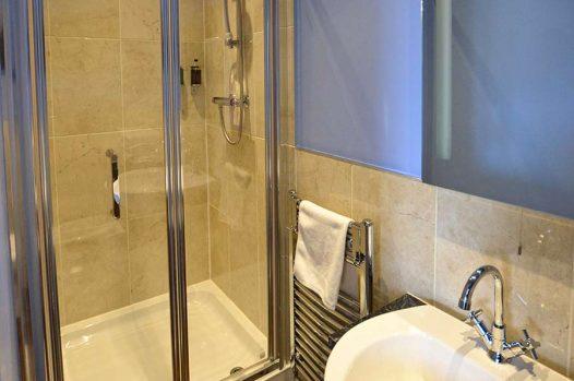 Ensuite shower room and basin