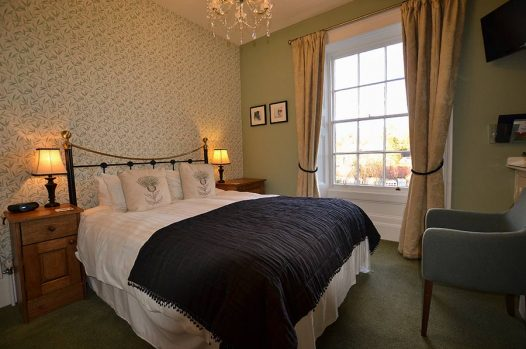 King size bed with view across to the window