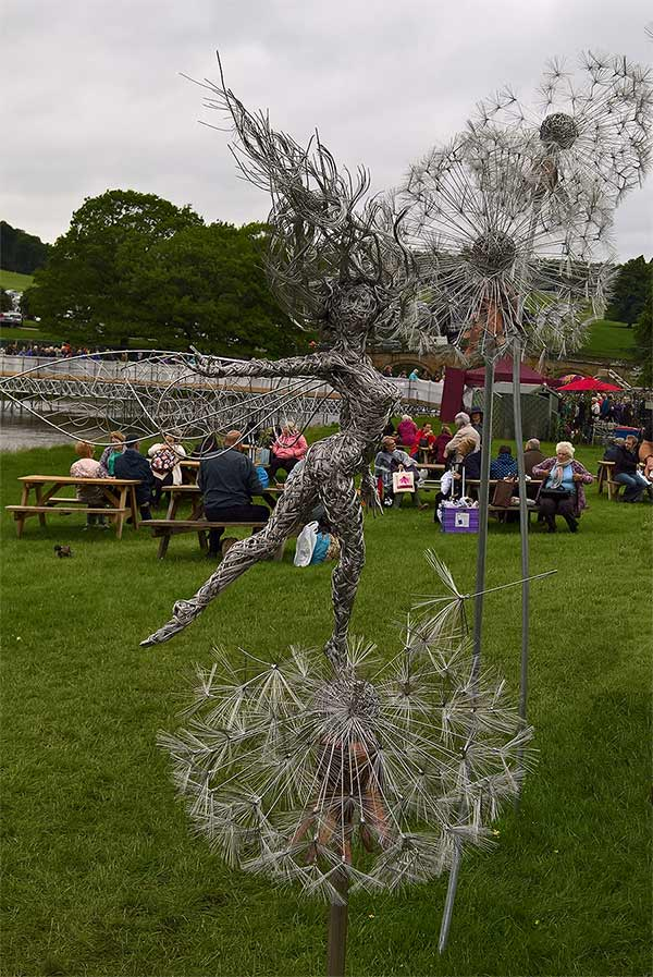 Fantasy wire sculpture at RHS Chatsworth