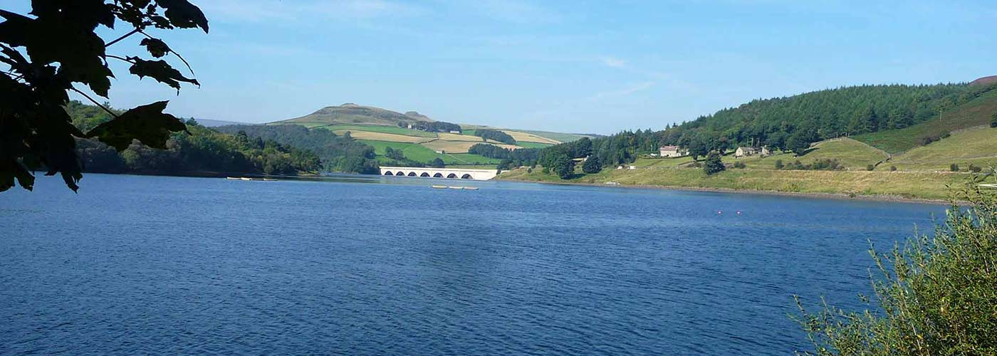 The Ladybower Dam in the Peak District