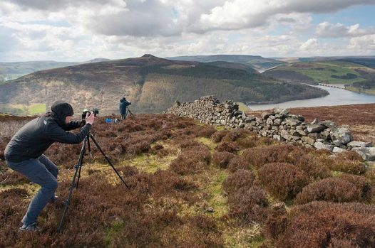 Landscape photography class in the Peak District National Park