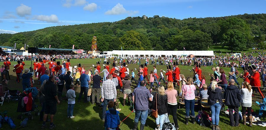 Massed bands at Derbyshire County show