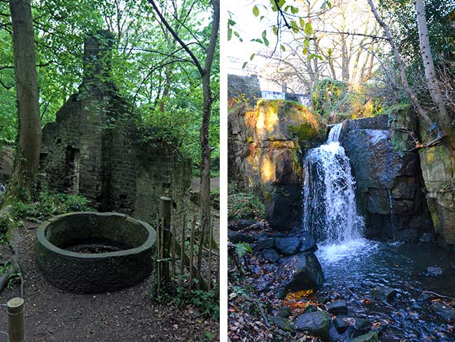 Lumsdale waterfall and ruins