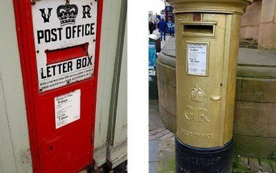 British post boxes in Derbyshire