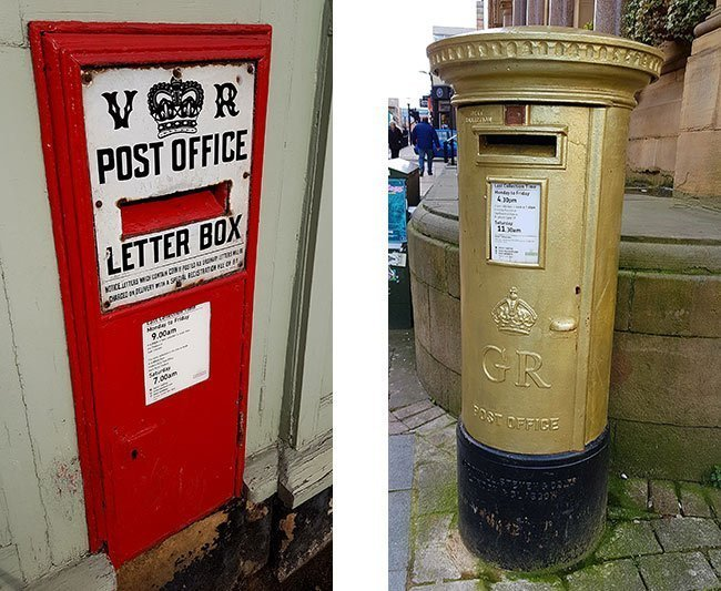 British post boxes in Derbyshire