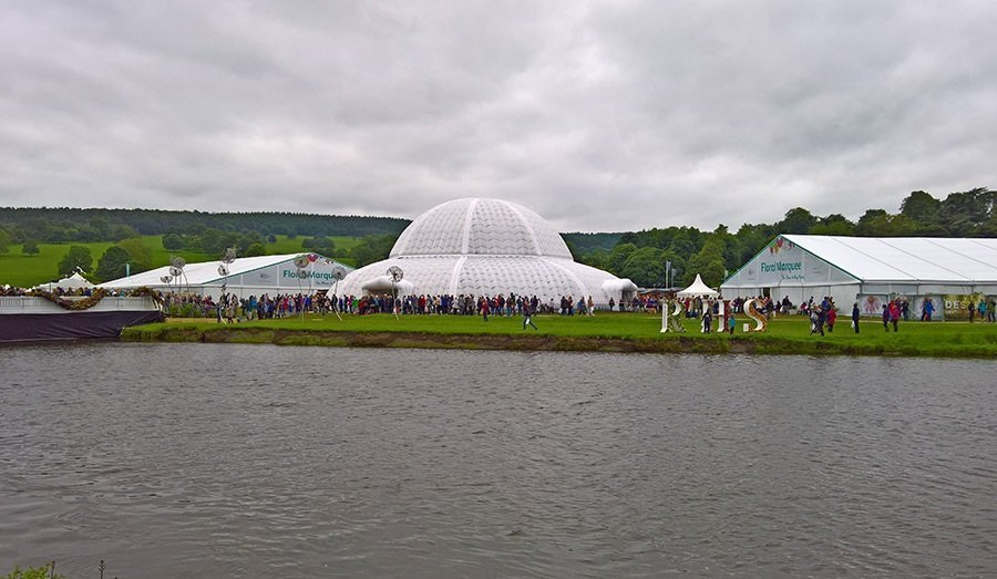 Paxton glass dome at RHS Chatsworth show