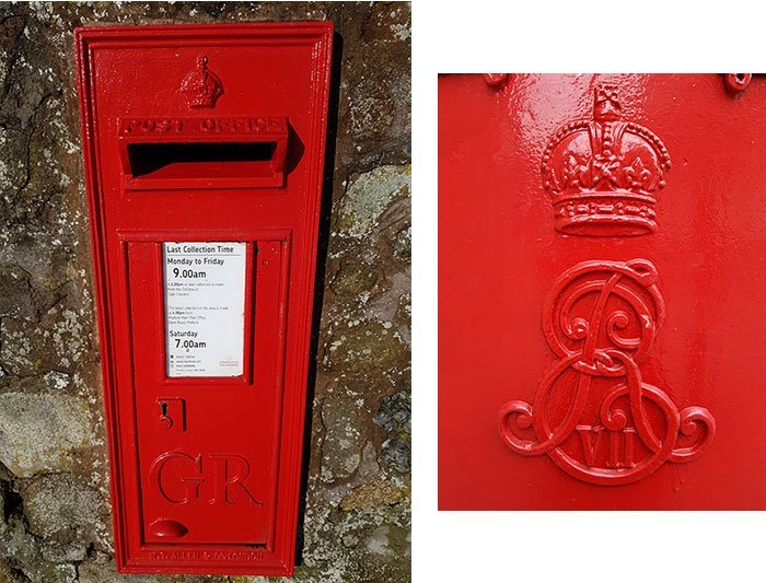 A rare George V wall post box