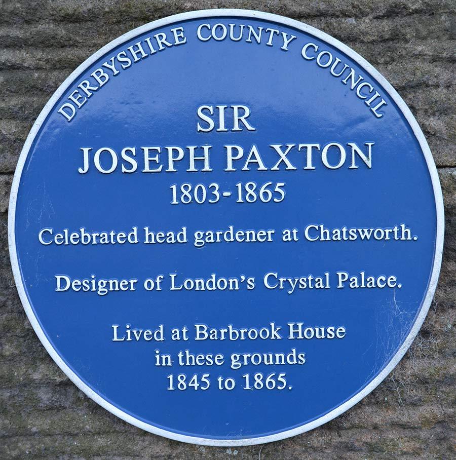 Sir Joseph Paxton's plaque