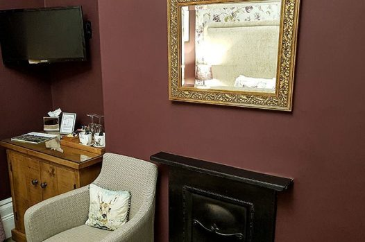 TV, coffee and tea making facilities and gold mirror