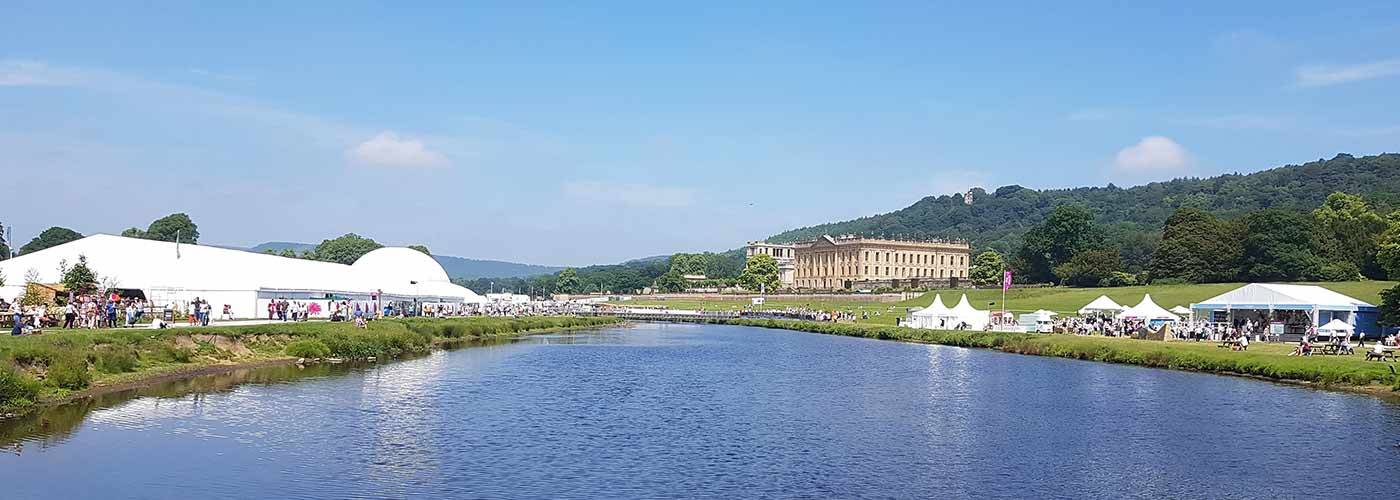 View across RHS Chatsworth in 2019
