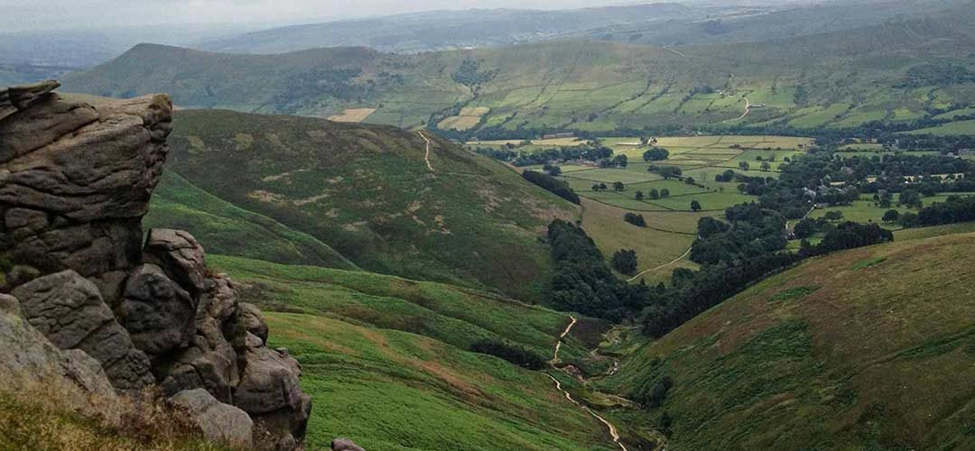 Walking Kinder Scout in Derbyshire
