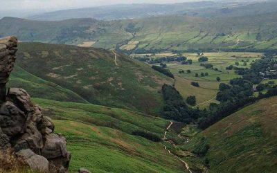 Walking Kinder Scout in Derbyshire