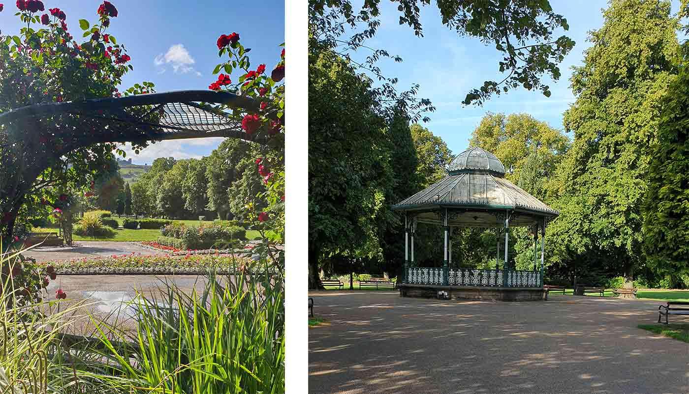 Views across Hall Leys Park in Matlock