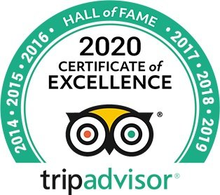 Glendon Tripadvisor certificate of excellence 2020