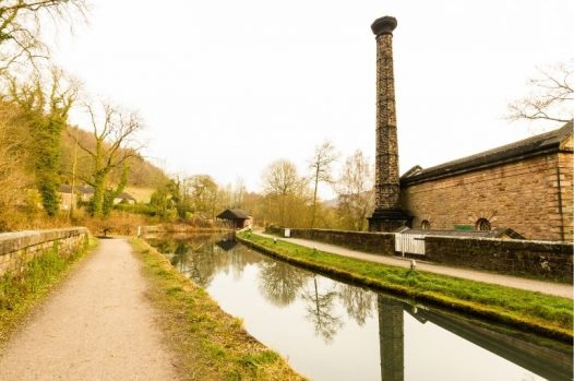 Leawood Pumphouse and the Cromford Canal.