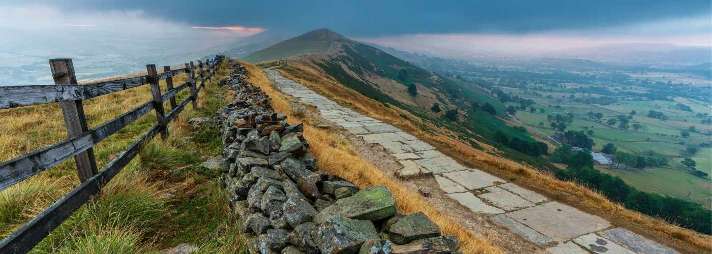 View from Mam Tor in the Peak District