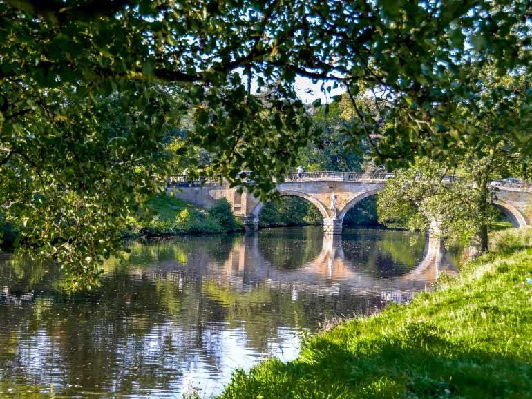 Chatsworth bridge and gardens