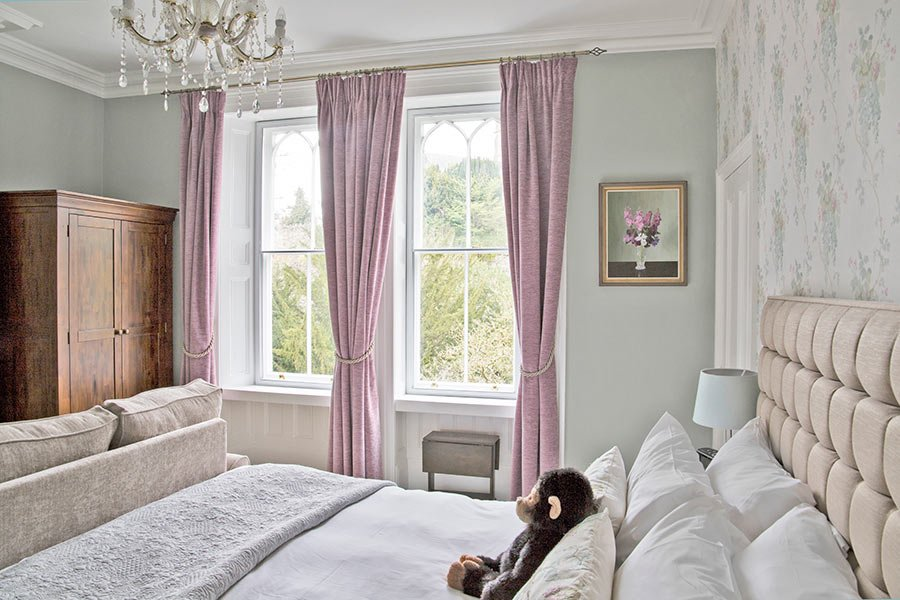 Premier bedroom with view of the church
