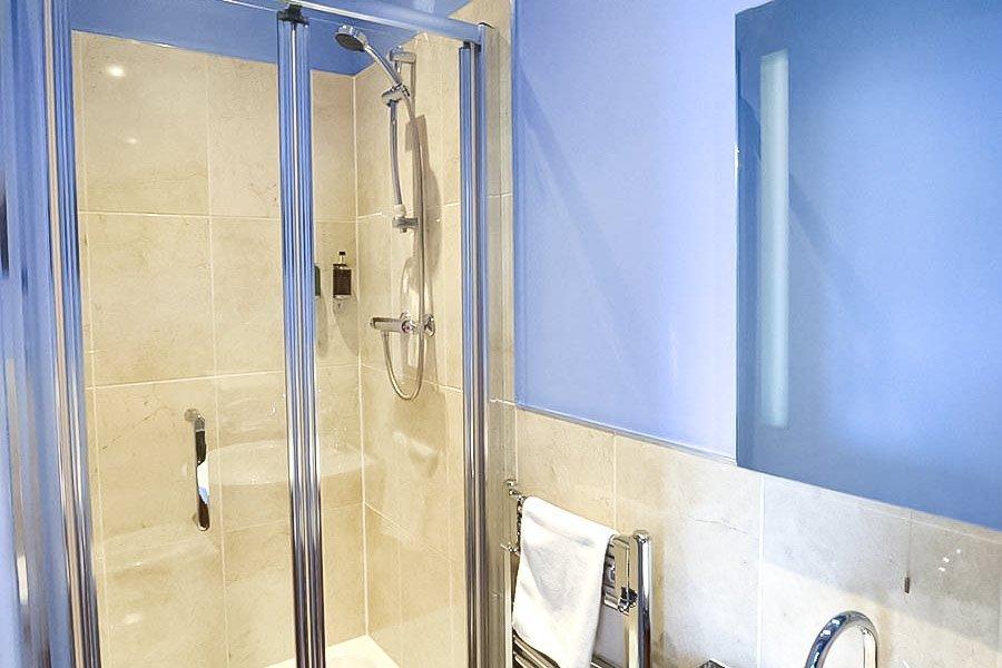 Shower in double bedroom