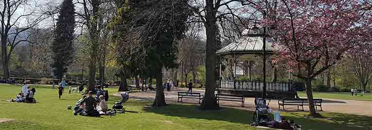 Matlock bandstand in Hall Leys Park