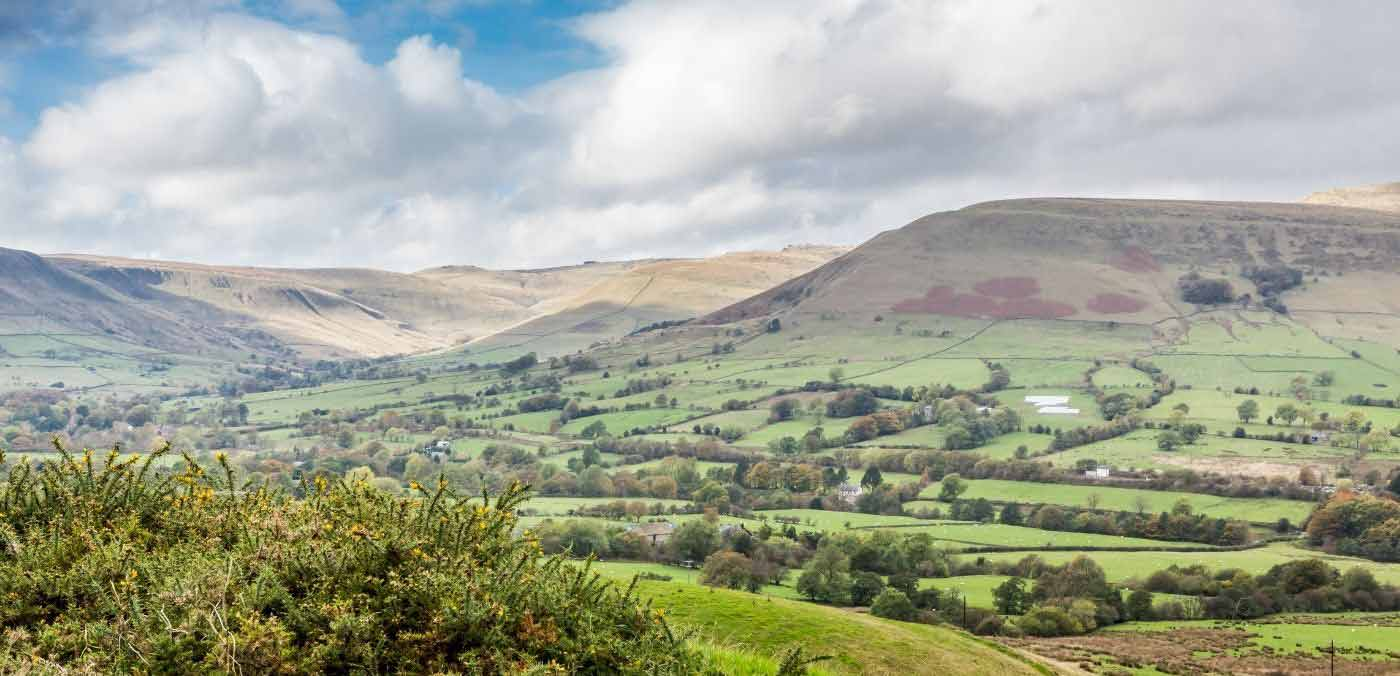 View from Mam Tor in Peak District